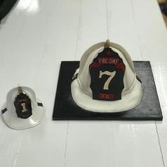 3d Helmet Cake Fire Chief Retirement Par