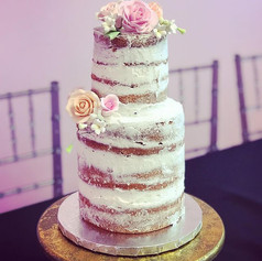 2 Tier Naked Baby Shower Cake