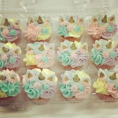 Pastel Gold Unicorn Cupcake