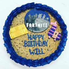Fortnite Birthday Cookie Cake