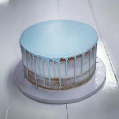 Blue Naked Drip Cake