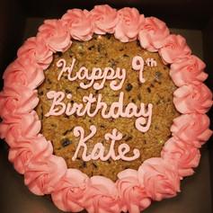 Sparkling Pink Cookie Cake