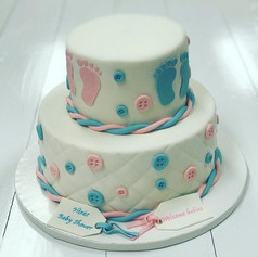 Buttons Baby Shower Cake