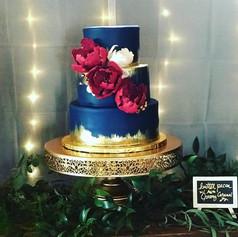 Brushed Gold Foil Wedding Cake