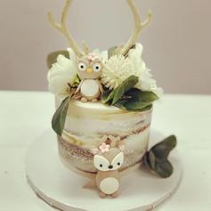 Naked Woodland Baby Shower Cake