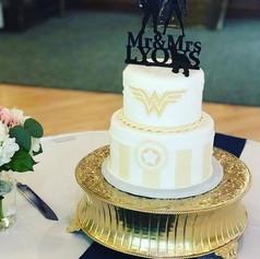 Super Hero Theme Wedding Cake