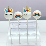 Rainbow Unicorn Cake Pops