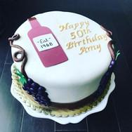 Wine Theme 50th Birthday Cake