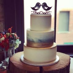 Rose Gold Brushed Wedding Cake