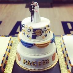 Pacers Wedding Cake