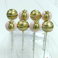 Pink and Gold Pineapple Cake Pops