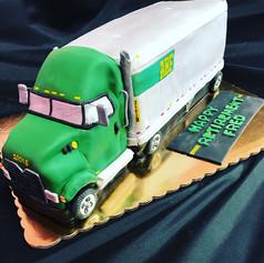 Semi Truck Driver Retirement Cake