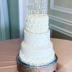 3 Tier Round Buttercream Wedding Cake