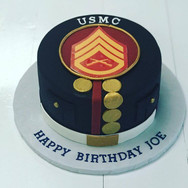 USMC Birthday Cake