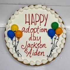 Adoption Day Cookie Cake