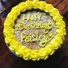 Yellow Birthday Cookie Cake