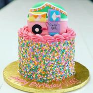 Vintage Trailer Birthday Cake