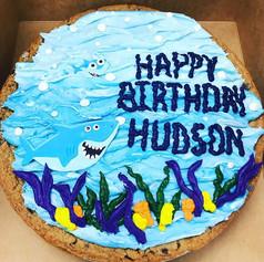 Baby Shark Cookie Cake