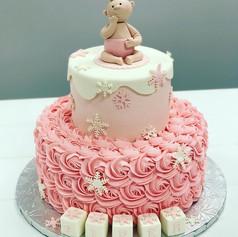 Pink Wonderland Baby Shower Cake