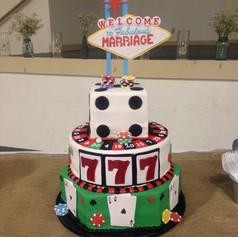 Vegas Inspired Grooms Cake