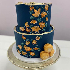 Fall Garden Wedding Cake