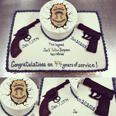 IMPD Retirement Party Cake