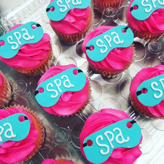 Spa Party Cupcakes
