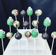Army Theme Cake Pops