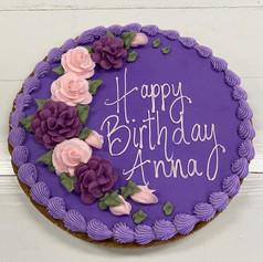 Purple Birthday Cookie Cake