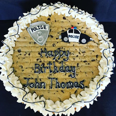 Police Theme Cookie Cake