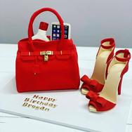 Designer Bag and Heels Birthday Cake