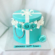 Tiffany and Co Inspired Birthday Cake