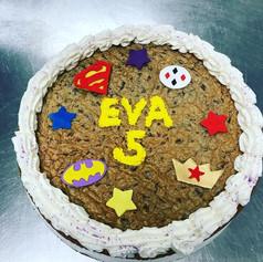 DF Girls Superhero Cookie Cake