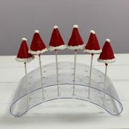 Santa Hats Cake Pops