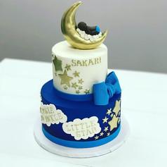 Twinkle Little Star Baby Shower Cake