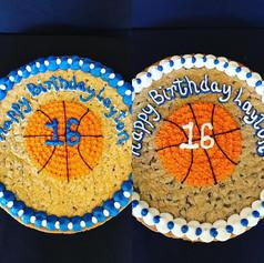 16th Birthday Basketball Cookie Cake