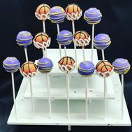 Lakers Basketball Cake Pops