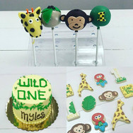 Wild One First Birthday Cake