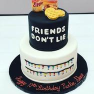 Stranger Things Theme Birthday Cake
