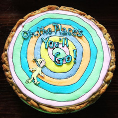 Oh the Places Youll Go Cookie Cake