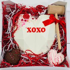 Valentines Chocolate Breakable Heart