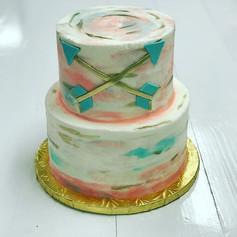 Boho Buttercream Baby Shower Cake
