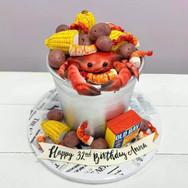 Seafood Boil Birthday Cake