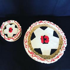 Soccer Theme Cookie Cake