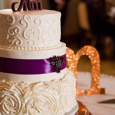 Rosette and Scroll Wedding Cake