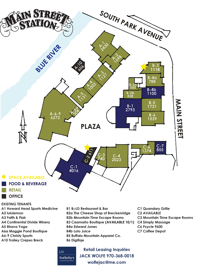 Main Street Station Breckenridge Leasing Map