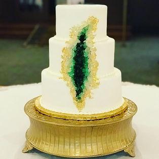 Indianapolis Geode Wedding Cake