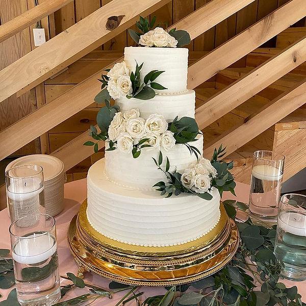 Buttercream Wedding Cake Indianapolis