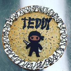 Ninja Birthday Cookie Cake