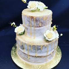Naked Honey Drip Baby Shower Cake